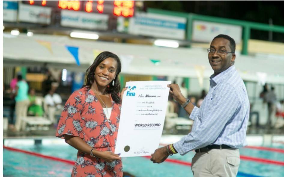 Alia receives world record certificate
